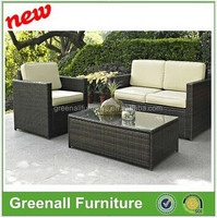 Deep seating group rattan used wicker furniture