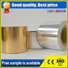 Gold and silver color laminated aluminum foil paper for tobacco