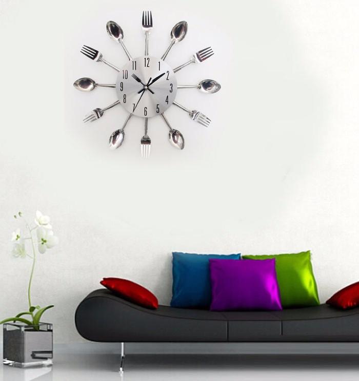 Pendule de cuisine design pendule fizz blanche loading zoom grande horloge - Pendule cuisine moderne ...