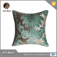 50*50cm new style green floral flock printing sofa cushion with Earopean style