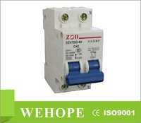 alibaba china DZ47-63GQ 2 pole 230v 63 amp voltage protection MCB circuit breaker