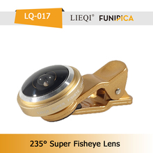 Hot Sale !!! Universal Clip-on 235 degree Fish Eye for Smartphone Camera Lenses
