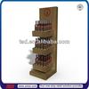 TSD-W252 shop retail wooden mdf wine pop display/ wine display shelf/ wine display rack