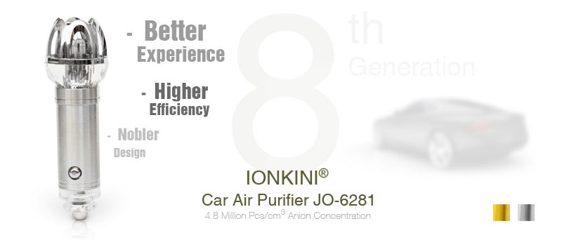 Ionkini 8th Generation Ionizer car air purifiers JO-6281