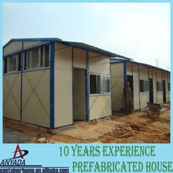 Movable/portable low cost fast assemble modular slop top prefab home