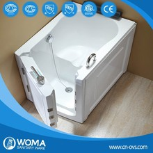 portable small bathtub Q376 walk in tub with shower comb for old people
