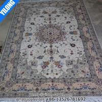 4x6ft Handmade Pakistan wool silk carpet