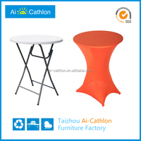 Cheap price round high legs kitchen bar table covers