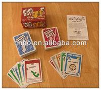 Custom burn rate playing card game