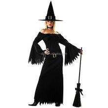 donne halloween costume da strega irregolare abito lungo gioco cappello cosplay partito adulto