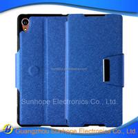 pu leather flip type wallet case for Xperia Z4 Z3+ plus E6553
