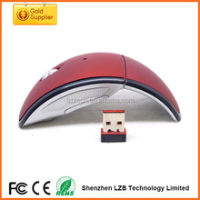 Christmas best gifts moue Wireless folding mouse Arc Foldable Mouse for laptop and desktop