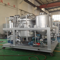 Black waste transmission oil filter purification system