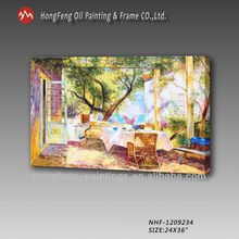 Home office warm color garden scenery decoration oil painting -NHF-1209234-