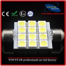 China alibaba hot sale more color C5W smd 39mm 1.8w LED Festoon Interior car Light Bulbs VW