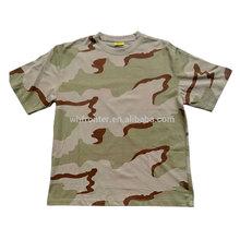 Wholesale multi-color 100% cotton O-neck fashion camouflage t shirt