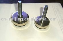 steel leg levelers with rubber pad