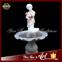 Customized Garden Marble Water Fountain Harvest Girl Stone Water fountain