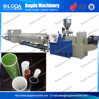 Large diameter Plastic UPVC/PVC water pipe scrap recycling extrusion production line price