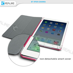Wallet flip leather case for iPad5, for iPad air folio bookcover case