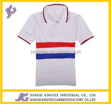 new design man polo shirt ,white with front Y/D stripe men's polo shirt