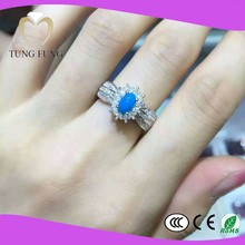 fashionable design 925 silver natural Turquoise latest ring designs
