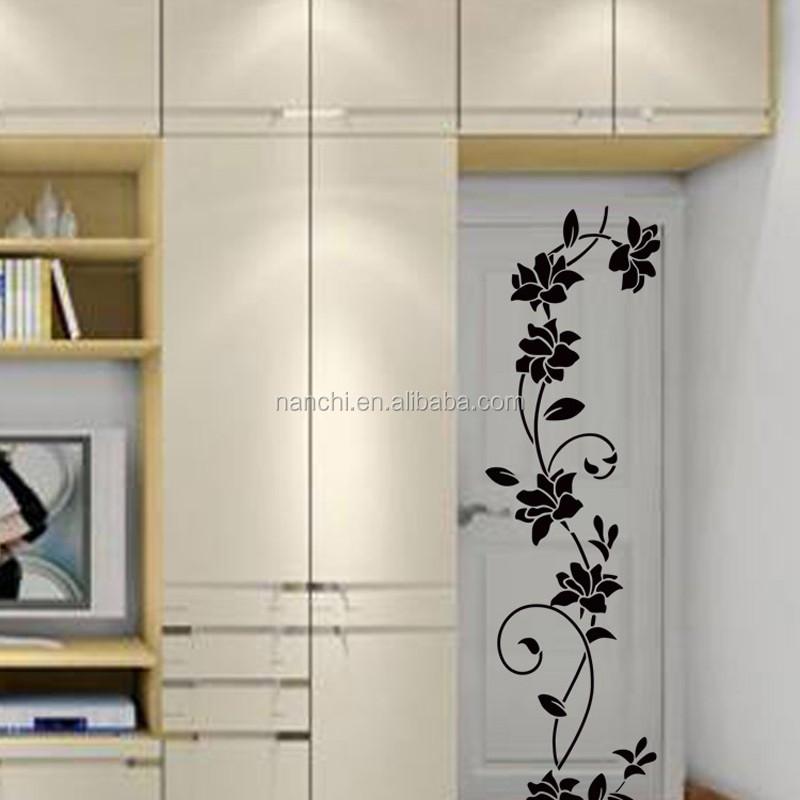 Fleur rotin fond de salon stickers muraux chambre for Decoration murale rotin