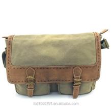 """14""""Laptop Retro Unisex Canvas Leather Messenger Bag"""