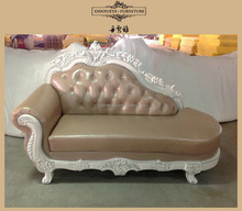 New Classic leather Chaise Lounge