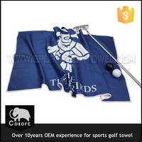 2015 floral digital printed microfiber golf towel with clips