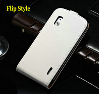 Second skin Leather Wallet Stand Case For LG Google Nexus 4 E960 Flip Cover Style