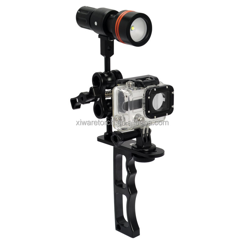 Diving Camera Flashlight Mount Holder Archen Z09 Bracket Gopro