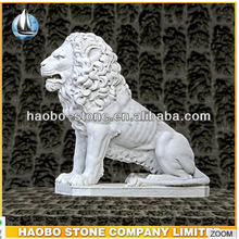 Chinese systle marble lion carving