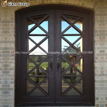 puerta interior de cristal de hierro forjado/la puerta del mejor precio