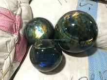 Natural flash semi precious labradorite polished stone spheres/balls