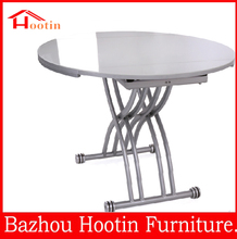 2015 most popular high quality wooden round extendable dining table