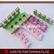 EVA finger toe Separate Feet Care Sponge Nail Tools,buffer toes and fingers separator