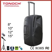 15 Inch Good bass trolley portable speaker/active speaker/speaker box with usb /sd
