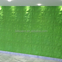 Fibreboard board type colored wall paneling textured interior wall panels for interior decoration