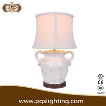 Antique White crackle ceramic table lamp decorative light for home and hotel