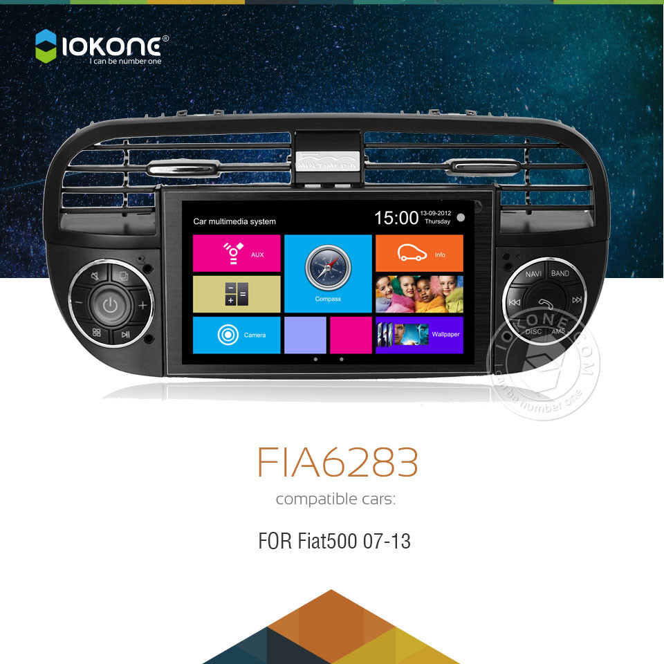 iokone touch screen car dvd radio player with gps. Black Bedroom Furniture Sets. Home Design Ideas