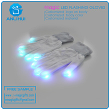 Party Supplies Promotion Gifts White Finger Flashing Led Magic Gloves