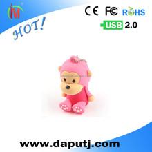 cheap wholesale lovely animal shape monkey usb flash drive