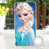 Cartoon frozen colored painted ultrathin soft TPU phone case for iphone 6S