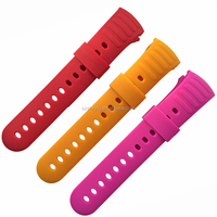 Pink Red Colorful ROHS/ SGS Silicon Rubber Wrist Watch Strap From Band Supplier