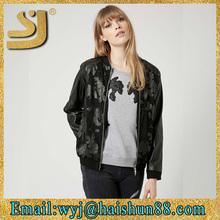 Stylish printed winter winter running black shiny down jacket