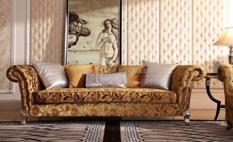 2015 estilo neoclásico sofá de la sala de madera maciza estilo ...