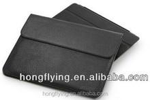 Black Soft genuine leather Sleeve bag case for iPad 2 iPad 5