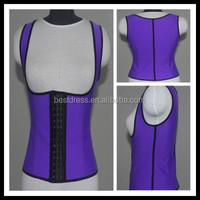 New Latex Vest Waist Cincher Chest Binder Body Shaper Corrector For Women Corset Slimming Plus Size Waist Training Corset Beauty