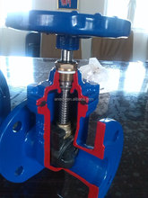 Flange end and locating collar combined with stem gate valve with favorable price